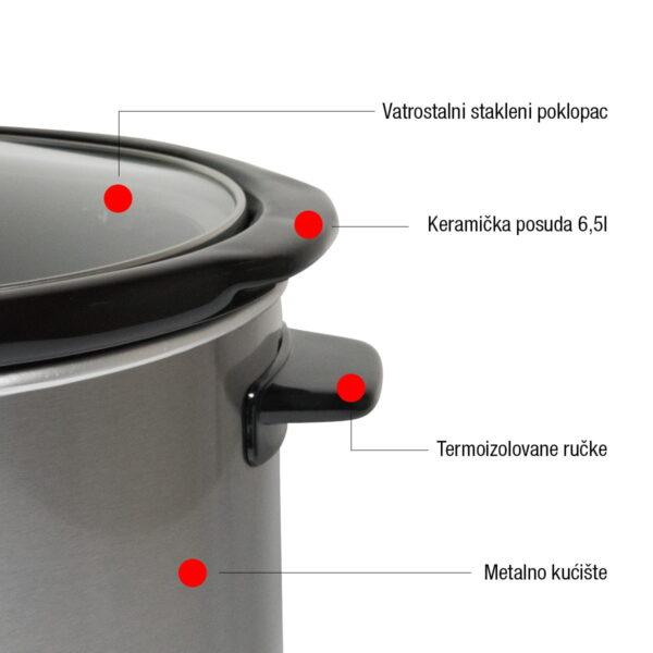 Coral aparat za sporo kuvanje 6,5 l 320 W - Super Krčko SC-320