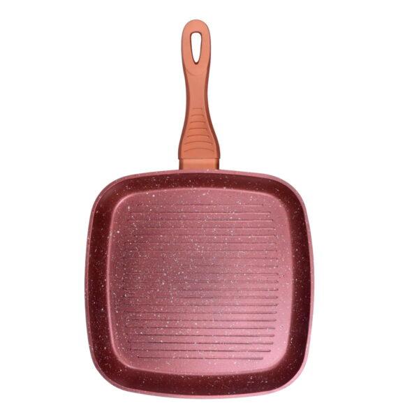 Macht grill tiganj sa nelepljivim granitnim premazom 28x28cm - Red Granite RGP-28