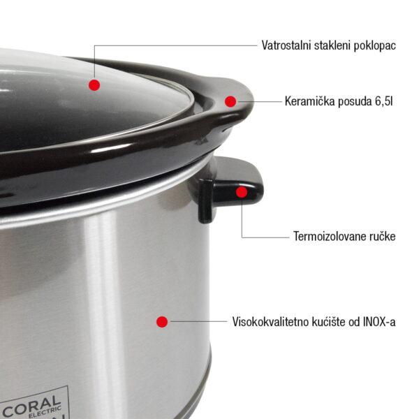 Coral aparat za sporo kuvanje 6,5 l 350 W - Super Krčko SC-320 Selection