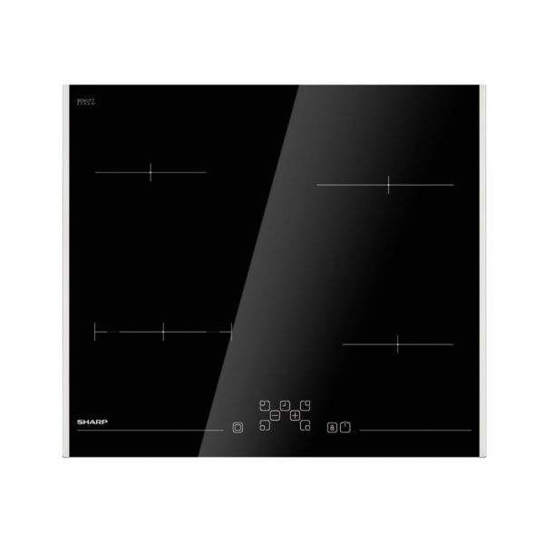 Sharp ugradna ploča širine 60 cm sa 4 ringle, 9 nivoa snage i kontrolama na dodir - KH-6V08FT00