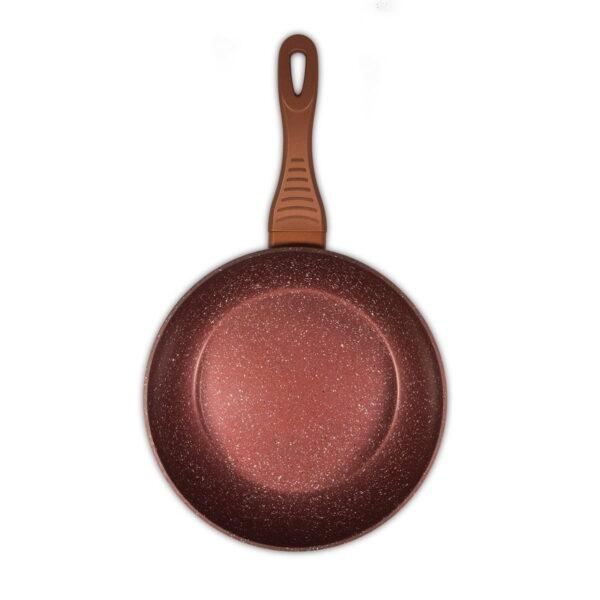 Macht duboki tiganj sa granitnim premazom 26cm x 7cm - Red Granite Wok