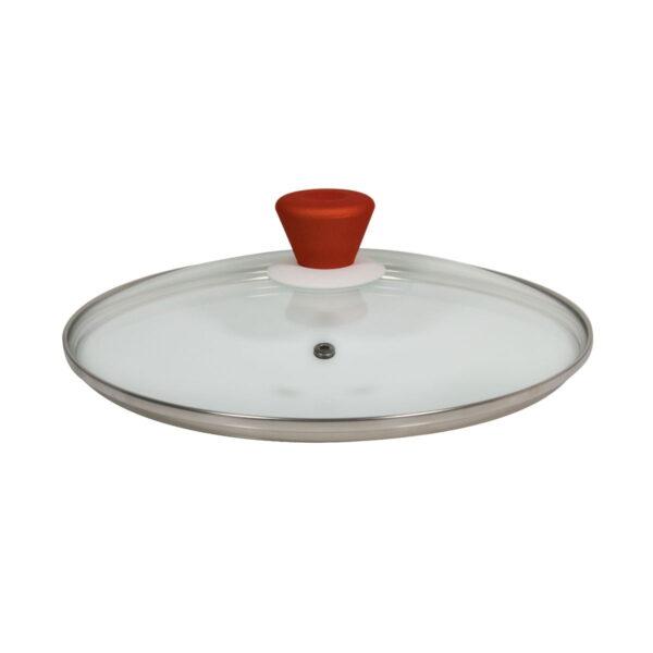 Macht duboki tiganj sa poklopcem i nelepljivim granitnim premazom 26cm x 7cm - Red Granite Wok