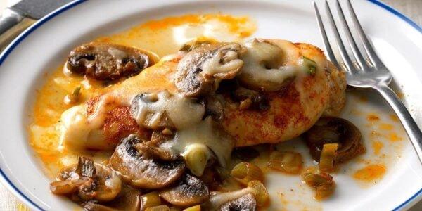 Pečena piletina sa pečurkama