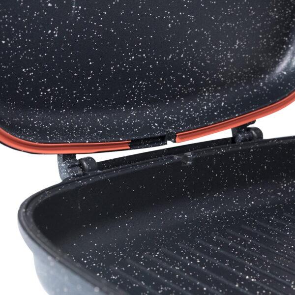 Pasha pravougaoni dvostrani gril tiganj na preklapanje 32x26x7,5 cm - 3216